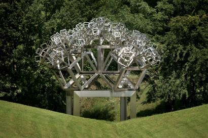 3D Fraktal 03/H/dd Österreichischer Skulpturenpark Unterpremstätten 2003
