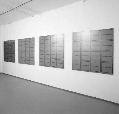 Formblatt 1990  Siebdruck auf Papier 2-teilig, je 62 x 122 cm Auflage: 6 Exemplare  Ausstellung  Galerie & Edition Artelier Graz