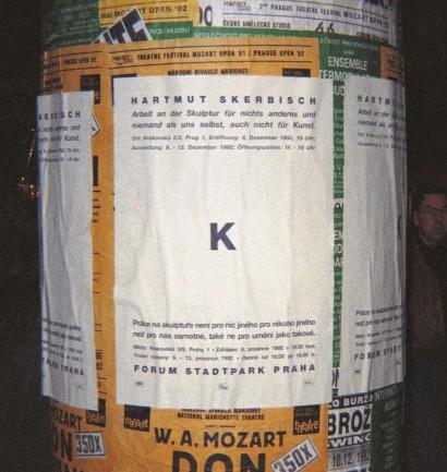 K Arbeit an der Skulptur 1992  Forum Stadtpark Prag