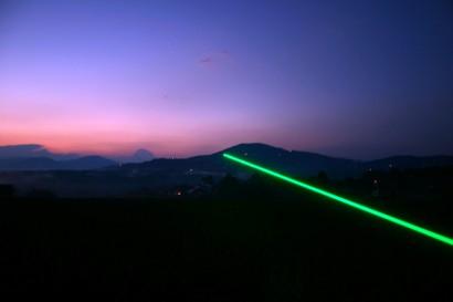 Laserstrahl  vagabundierende Akademiesäule K.U.L.M  2004